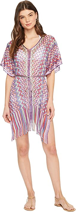 Rumba Fringed Poncho Dress