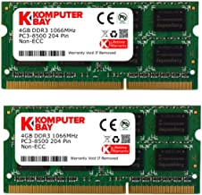 Komputerbay KB_8GB_2X4GB_DDR3_SO1066_2 - Módulos de memoria 8GB (2x 4GB) SODIMM DDR3 (204 Pines) 1066Mhz PC3 8500 para Apple 8 GB