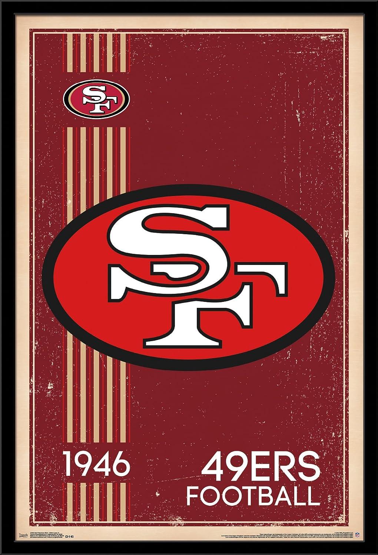 Trends International San Francisco 49ers-Retro Logo Wall Poster, 24.25  X 35.75 , Multi
