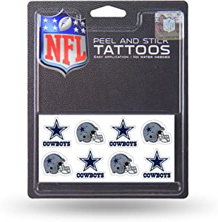 Rico Industries NFL Dallas Cowboys Face Tattoos, 8-Piece Set