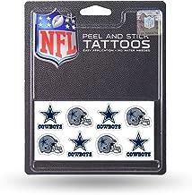 Rico Industries NFL Dallas Cowboys Face Tattoos, 8-Piece Set