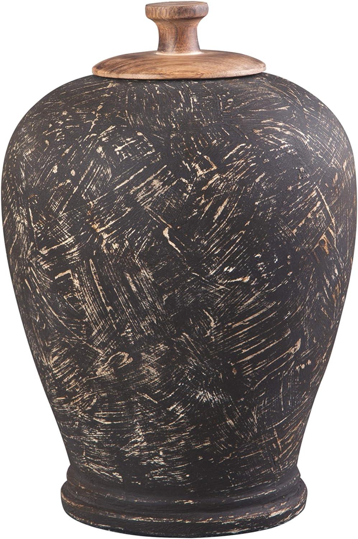 Signature 送料無料 一部地域を除く Design by 送料無料新品 Ashley Jar Black Barric Antique