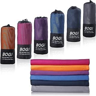 BOGI Microfiber Travel Sports Towel-(Size: S M L XL)-Dry Fast Soft Lightweight..