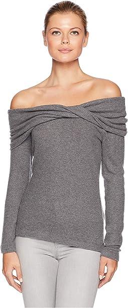 One Shoulder Brushed Sweater