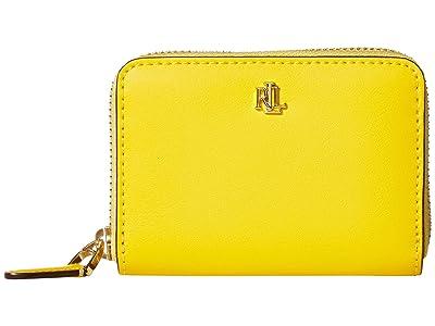 LAUREN Ralph Lauren Small Zip Wallet (Racing Yellow/Lauren Tan) Wallet Handbags