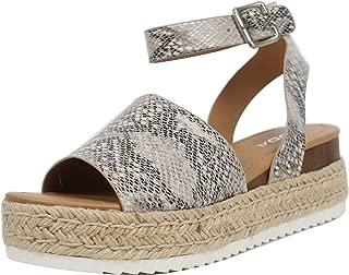 Women's Open Toe Halter Ankle Strap Espadrille Sandal