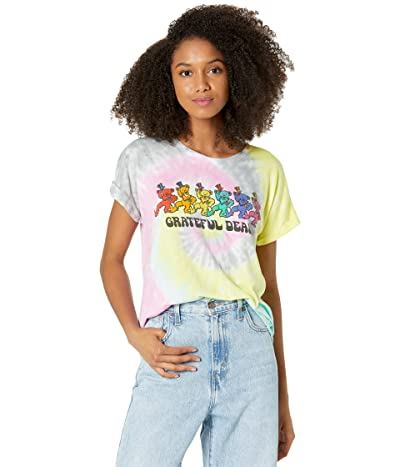 Chaser Dancing Bears Recycled Vintage Jersey Rolled Short Sleeve Tee