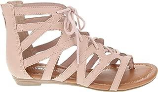Best pink lace up sandals flat Reviews