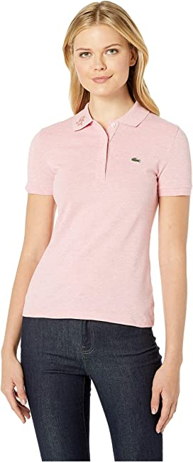 55e2ca888 Lacoste Short Sleeve Two-Button Classic Fit Pique Polo at Zappos.com