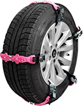 TreadReady Adirondack Strap (Pink) AS10PG1 Emergency Traction Device for Snow Sand and MUD - Easier Than Snow Chains!