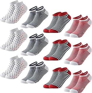 MOCOCITO 6/8/12 Pares Calcetines Cortos Hombre & Mujer | Calcetines Deporte | Calcetines Mujer Divertidos | Calcetines Inv...