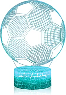 3D Illusion Soccer Night Lamp, 7 Color Change, Touch...