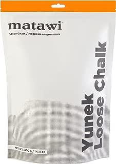 Matawi Yunek Loose Chalk 400 Gram (14.11 oz) Enhanced Grip - Pure Gym Chalk for Rock Climbing, Weight Lifting, Crossfit, Gymnastics, Sports - Absorbs Sweat, Protects Skin