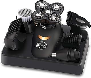 Electric Razor for Men, Hair Clipper for Bald Men Grooming Kit 5 in 1 Wet Dry Rotary Shavers Nose Hair Beard Trimmer Clipp...
