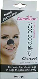 Cameleon Charcoal Nose Pore Strips Blackhead Removel Strips (10 Strips)