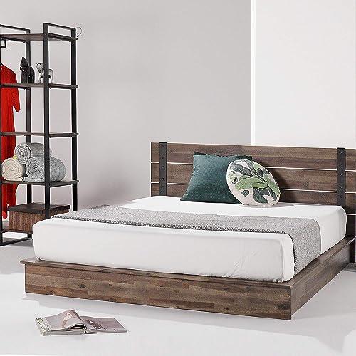 ZINUS Brock Metal and Wood Platform Bed Frame