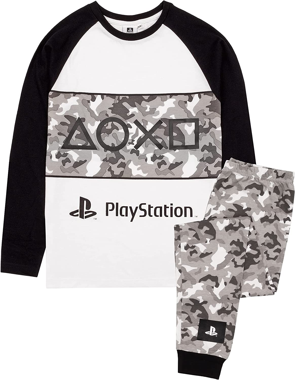 PlayStation Pyjamas Boys Game Camo PJs Long OR Short Options