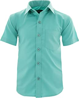 A0vDa Children's Party Shirt Casual Shirt Easy to Iron Short Sleeve with 9 Colours Size 86-158