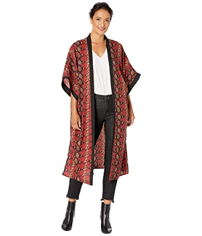Collection XIIX Snake Skin Kimono (Red) Women