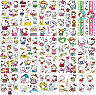 Hello Kitty Tattoos 130PCS Cute Cat Temporary Tattoos for Kids Girls Birthday Party Favors Supplies Decoration