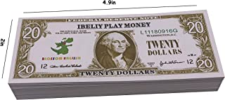 IBELIY Prop Money Educational Play Money for Kids 20 Dollar Bills,Cartoon Small Size Game Money Replace Money Stacks in Pretend Play Counting Money,Great for Classroom Management,Learning to Count