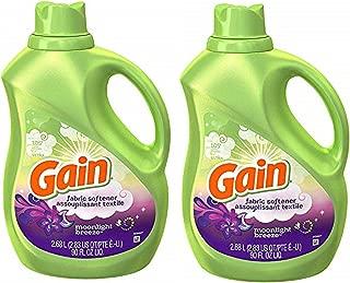 Gain Laundry Fabric Softener Moonlight Breeze Scent Ultra - 2 PKs x 105 Loads, Total 210 Loads - 180 Fl.Oz / 5.4 L