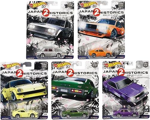 Japan Historics 2 Car Culture Set 5 Modellautos 1 64 Hot Wheels FPY86