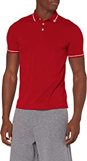 A|X Armani Exchange Men's Logo Collar Pique Polo, Scooter, X-Large