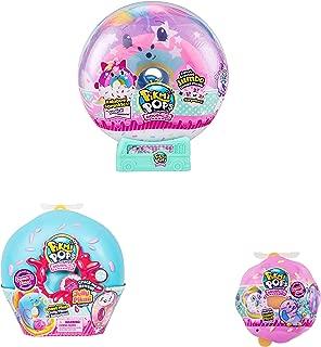 "Pikmi Pops Doughmis Series Large Pack 10"" - Rainbow Sprinkles The Unicorn, Medium and Single Doughmi Surprise Bundle"