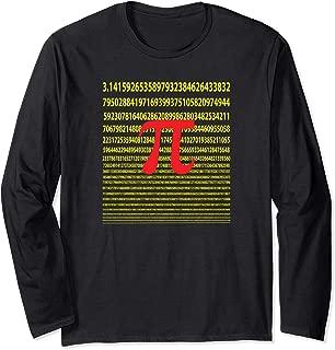 The Infinite Number Pi Artsy Geek Math Lovers Long Sleeve T-Shirt
