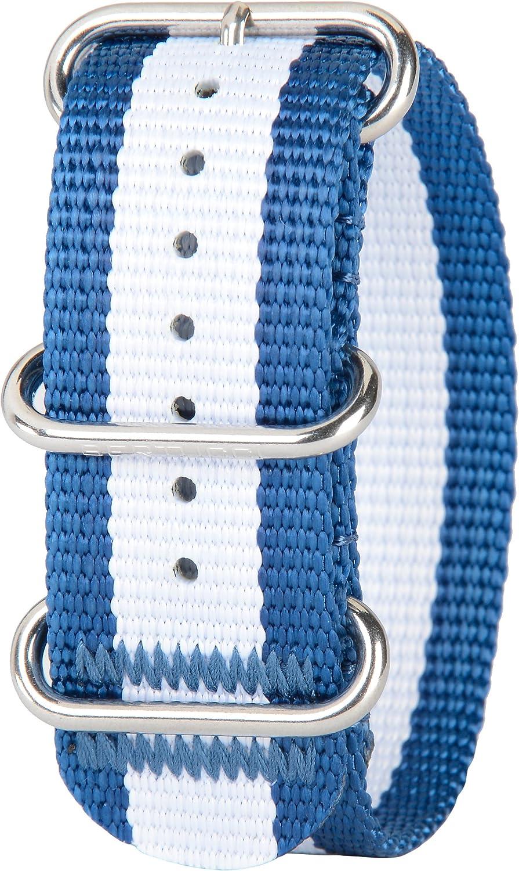 Bertucci DX3 Max 80% OFF B-174 Mariner store Blue w Nylon 26mm White Stripe Watch
