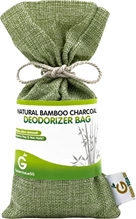 Golden Value SG Bamboo Charcoal Deodorizer Bag, Best Air Purifiers for Smokers & Allergies, Perfect Car Air Fresheners, Remove Smells for Home & Bathroom (Green)
