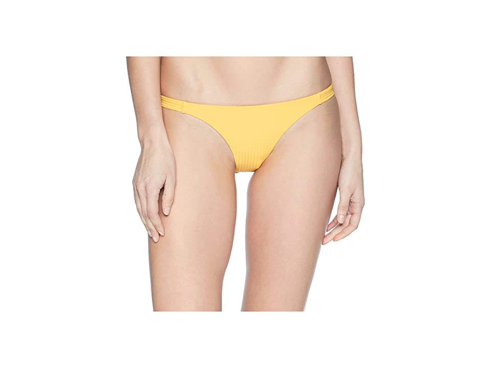 Vitamin A Swimwear Carmen Ribbed Bottoms (Sunflower/Eco Rib) Women