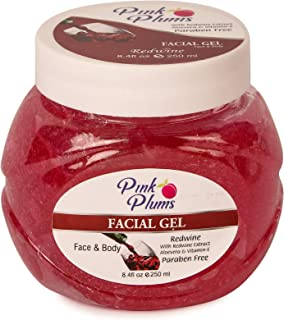 PINK PLUMS Glowing Redwine Facial Gel with Vitamin-E, 250 ml
