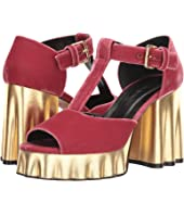 MARNI - Velvet Wedge Heeled Sandal