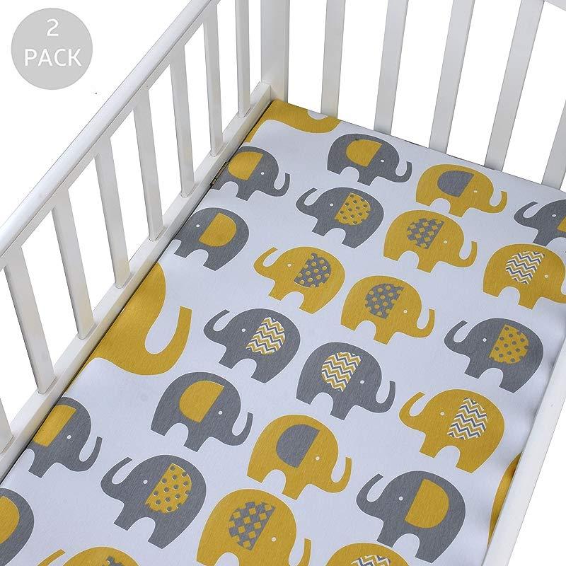 Crib Sheets Set 100 Cotton Jersey Crib Sheet For Standard Crib And Toddler Mattress Unisex Sheets