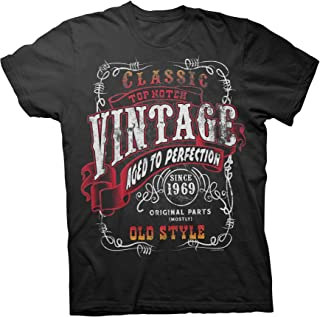 50th Birthday Gift Shirt - Vintage 1969 Aged to Perfection - Sturgis