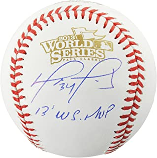 David Ortiz Boston Red Sox Autographed World Series Logo Baseball with