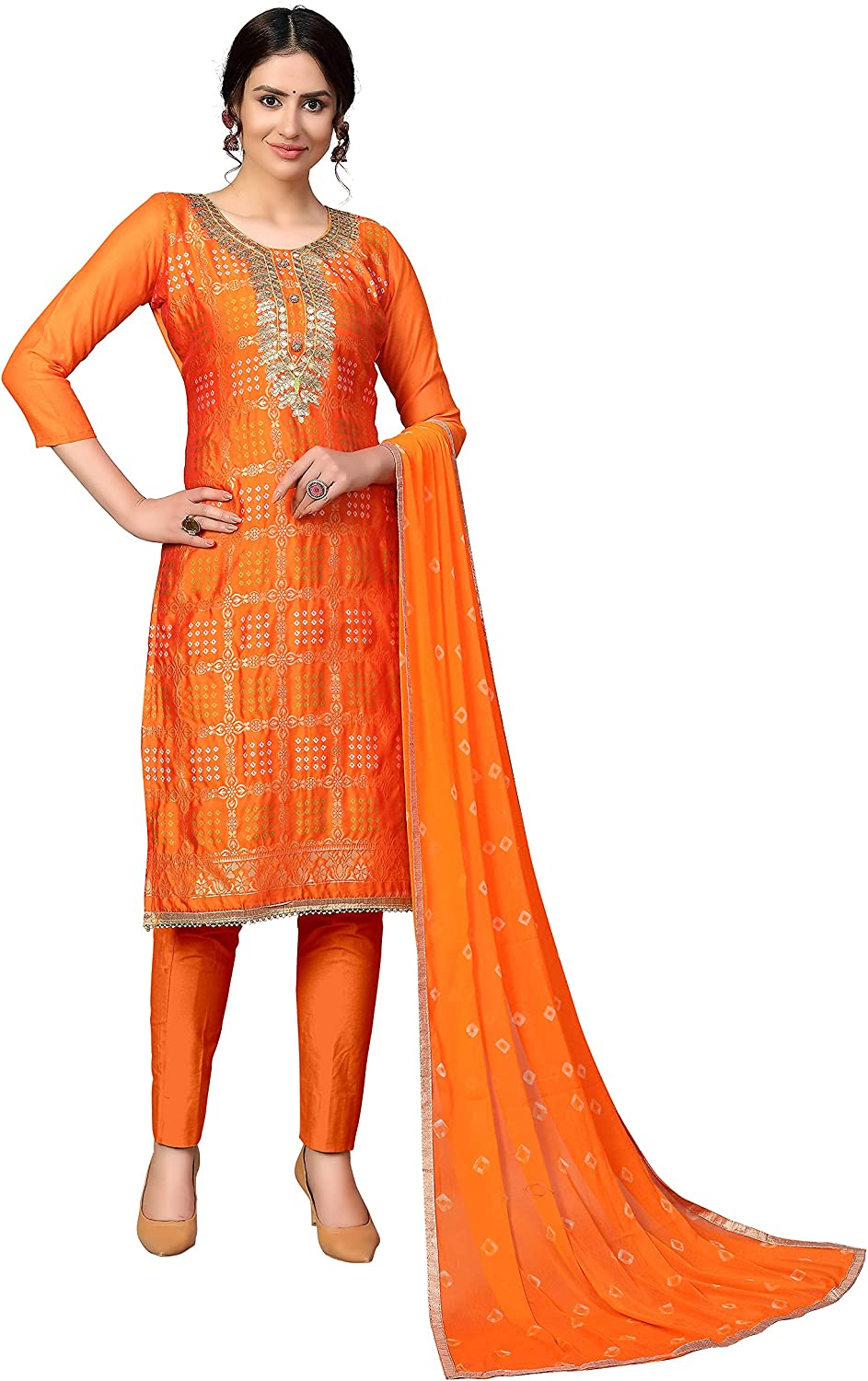 SB Traders Readymade Salwar Suit for Women Indian Style Cotton Fabric Salwar Suit with Dupatta