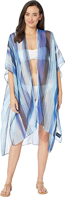 Poly Chiffon Long Swim Cover-Up Top
