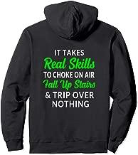 Funny Clumsy Hoodie Choke Fall Trip Green (BACK DESIGN)