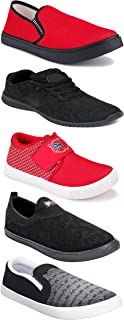 WORLD WEAR FOOTWEAR Sports Running Shoes/Casual/Sneakers/Loafers Shoes for MenMulticolors (Combo-(5)-1219-1221-1140-720-1074)