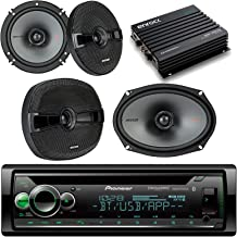 Pioneer Bluetooth Car CD Player Receiver Bundle with 2 Kicker 44KSC6504 6.5