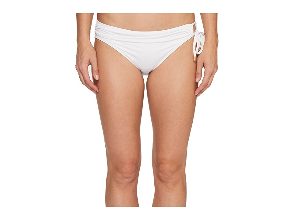 Tommy Bahama Pearl Hipster Bikini Bottom with Ring (White) Women