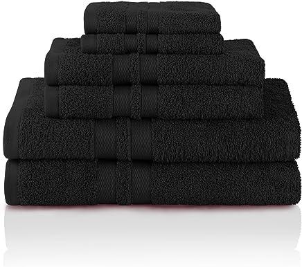 Amazon.com  Superior 100% Premium Cotton Ultra Soft 6 Piece Towel ... ba96095d7