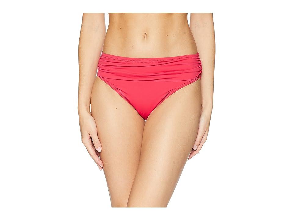 Tommy Bahama Pearl High-Waist Hipster Bikini Bottom (Cerise) Women