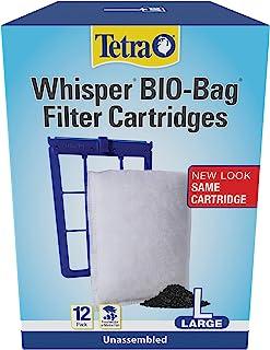 Tetra 26164 Whisper Bio-Bag Cartridge, Unassembled, Large, 12-Pack
