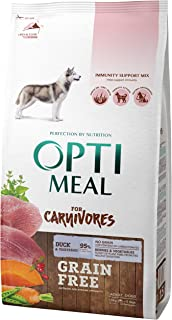 OPtimeal Carnivores Grain Free Dry Dog Food for Adult Dogs of All Breeds. High Protein Formula with No Grains or Glutens