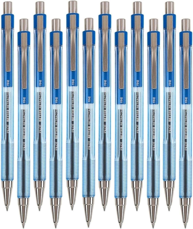 Pilot 5 ☆ popular Better Luxury Retractable Ballpoint Pen Blue 12-Cou Point Fine