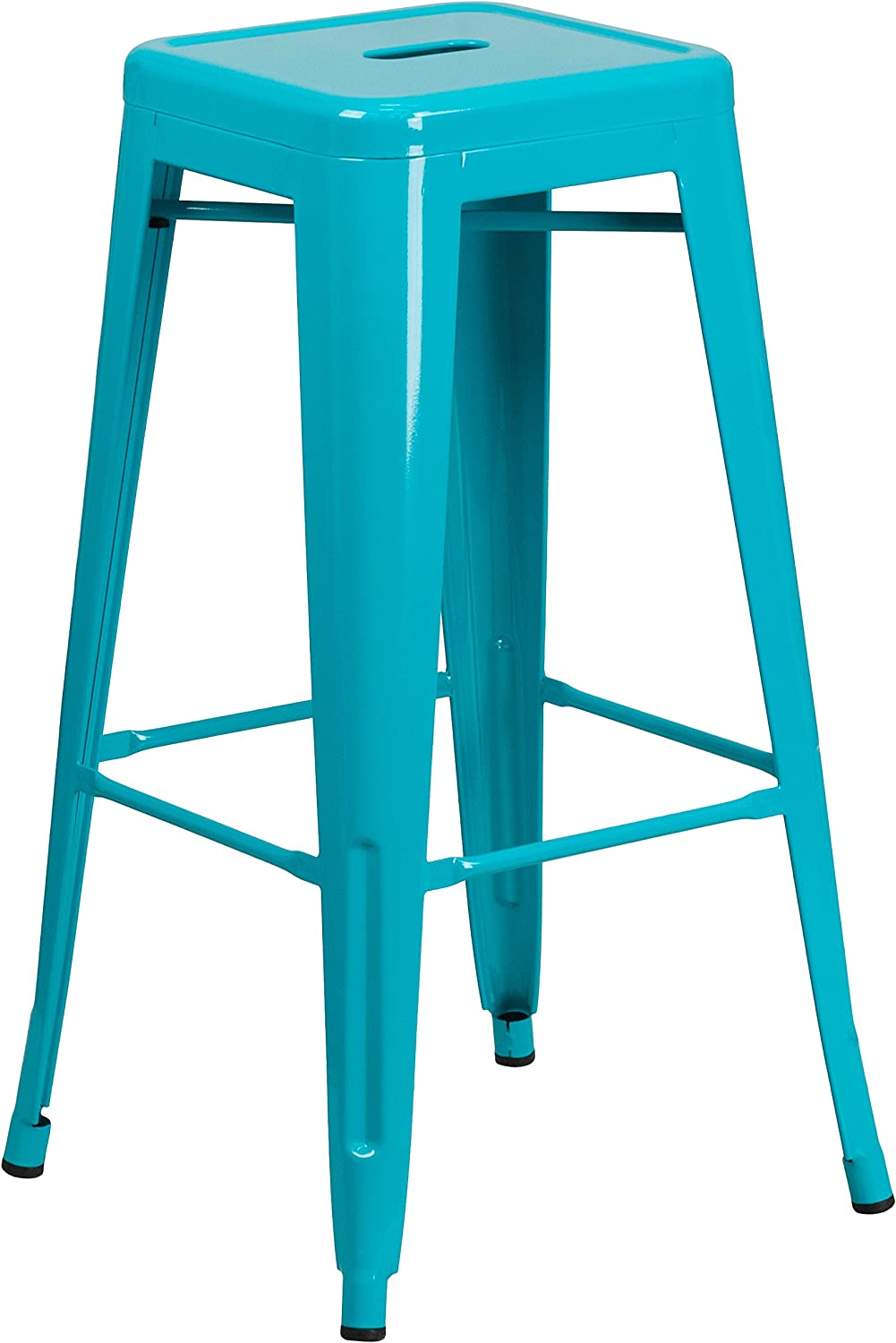 Flash Furniture 30'' High Backless Crystal Teal-bluee Indoor-Outdoor Barstool